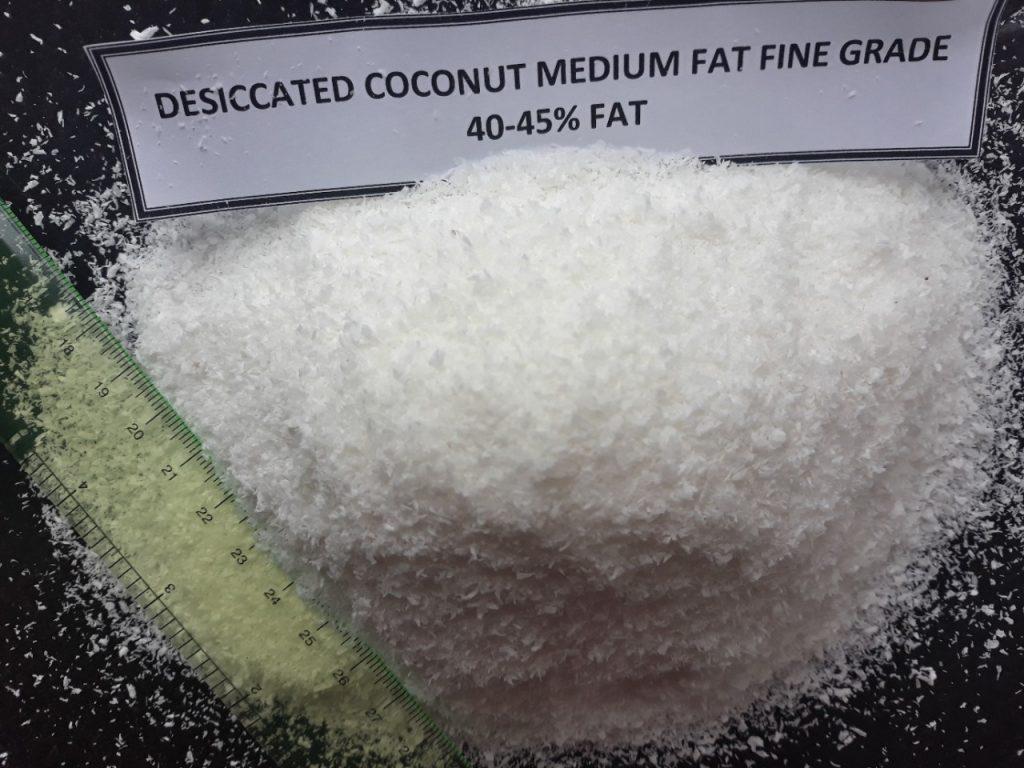 Vietnam Desiccated Coconut Medium Fat 40% min Fine Grade
