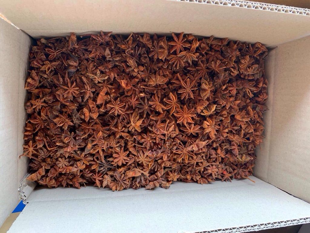 Vietnam Star Anise packing in carton 10kgs, star anise autumn crop fully dried.